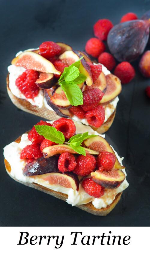 Berry Tartine. Berry Breakfast Toasts - Burrata Tartine. Fig + Berry Burrata Toasts w. Maple Syrup. #breakfast #brunch #lmrecipes #berries #antioxidant #entertaining #recipes #homemade #foodblog