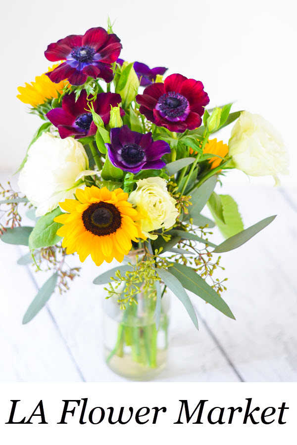 10 Tips for Arranging Flowers and a Trip to the Los Angeles Flower Market in Downtown LA. #flowers #floral #flowerarrangement #flowerbouquet #losangeles #dtla #california #homedecor #diy #homesteading