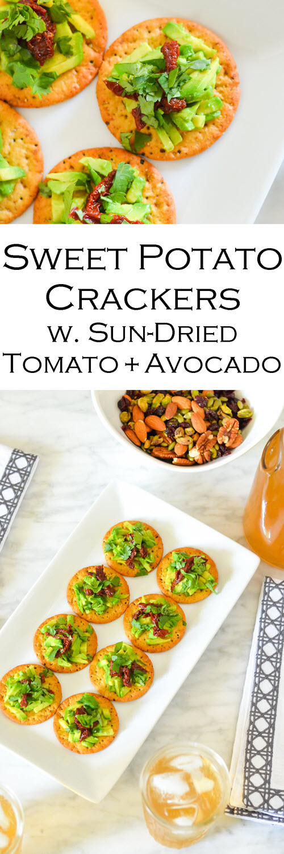 Sun-Dried Tomato Avocado Cracker Topping - Easy Appetizer Recipe. Sun-Dried Tomato Avocado Cracker Topping - Easy Appetizer Recipe. Easy appetizer recipe with avocado. #appetizer #appetizers #starters #entertaining #dinnerparty #avocado #sundried #foodblog #lmrecipes