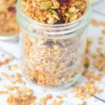 The Best Homemade Granola Recipe. Coconut Sesame Seed Granola Recipe. Enjoy this delicious combination of unsweetened coconut, pumpkin seeds, sunflower seeds, cinnamon, and so much more. Great as a cereal or with yogurt. #lmrecipes #breakfast #brunch #healthy #healthyrecipes #foodblog #foodblogger #homemade