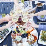 al fresco Dinner Party Menu, Setup Tips. Easy, Late Summer Dinner Party Menu, Setup Tips w Make-Ahead Recipes #dinnerparty #dinner #makeahead #makeaheadrecipes #recipes #healthy #summer #entertainig #hostess #lmrecipes