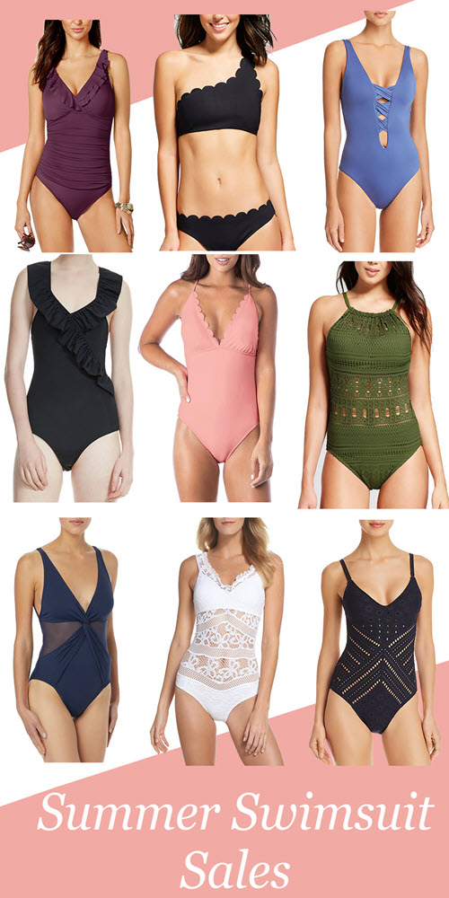 Summer Swimsuit Sales. Get the best deals on cute summer bathings suits, bikinis and one-piece swimsuits for women. Summer fashion deals you don't want to miss. #sumemr #summerfashion #swimwear #swimsuits #sales #salealerts #fashionblog #fashionblogger #sumemrstyle #beach #resortwear #summervacation