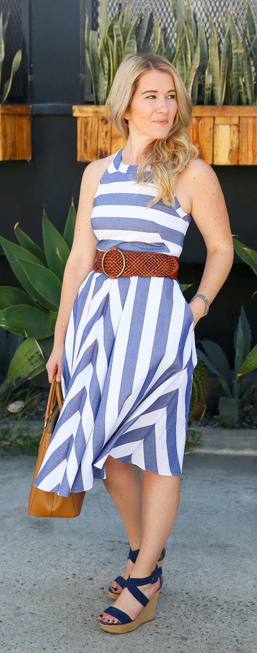 Best Summer Dresses with Pockets - Eliza J. Review. If you love jeans and pants over dresses and skirts, you're in the right place. This dress company is comfortable, flattering, and easy to wear - perfect for denim lovers looking for a go to dress company. #fashionblog #fashionblogger #losangeles #dresses #ootdshare #outfitideas #summerfashion #stylish #nordstrom #elizaj #streetstyle
