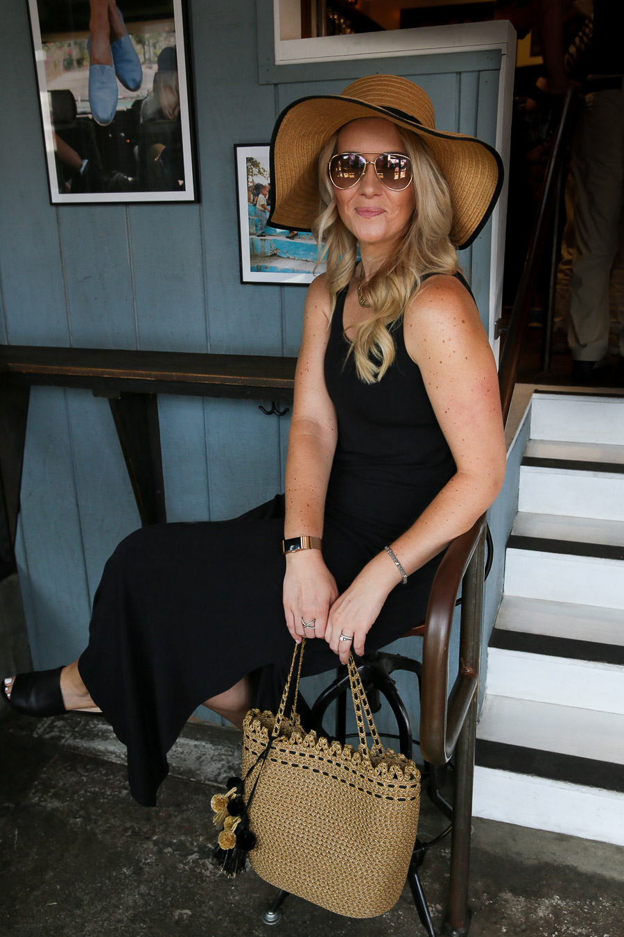 How to Style a Maxi Dress and Hat Outfit