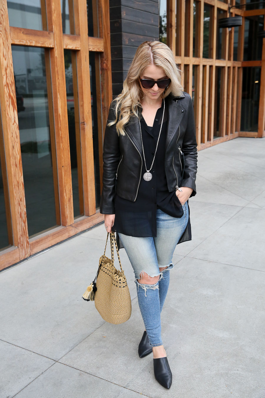 How to Wear Long Shirts w. Leather Jacket and Jeans