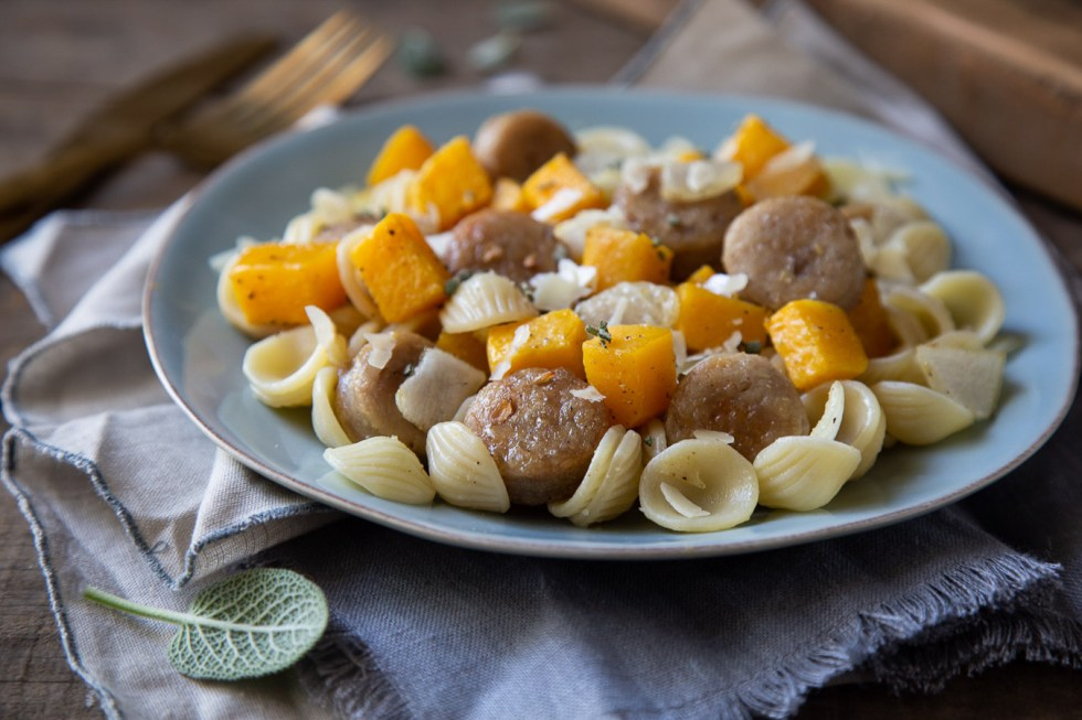 Roasted Butternut Squash Pasta w. Sausage