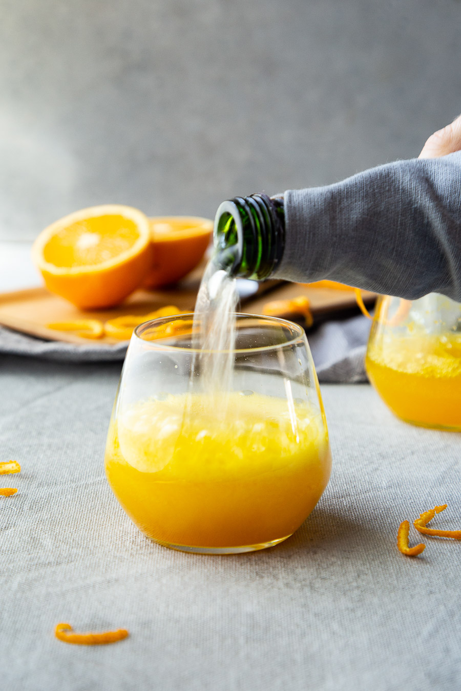 Turmeric Cocktail - Turmeric Orange Spritzer.
