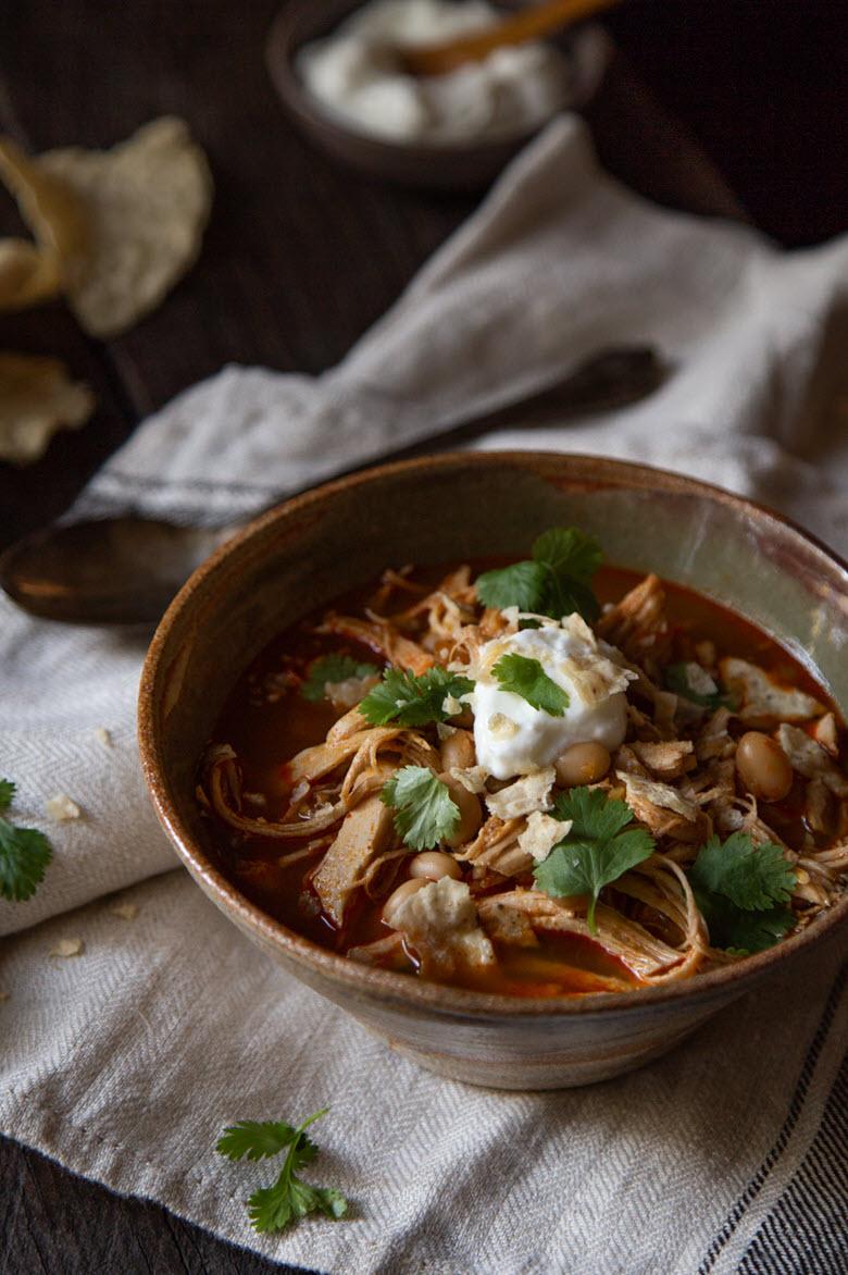 Leftover Turkey Chili w. White Beans