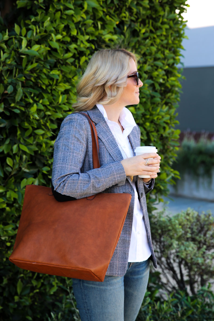 Monogram Leather Tote Bag - SLATE Collection Review