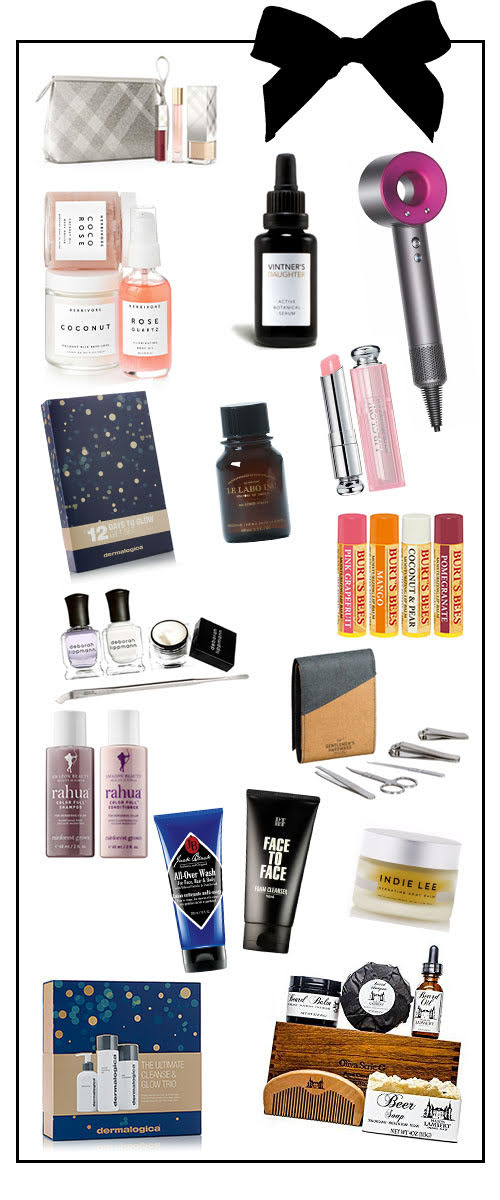 Beauty Gifts for Her for Christmas. Gift ideas for men and women for healthy skin, hair, and face. Makeup and skincare for christmas gifts.