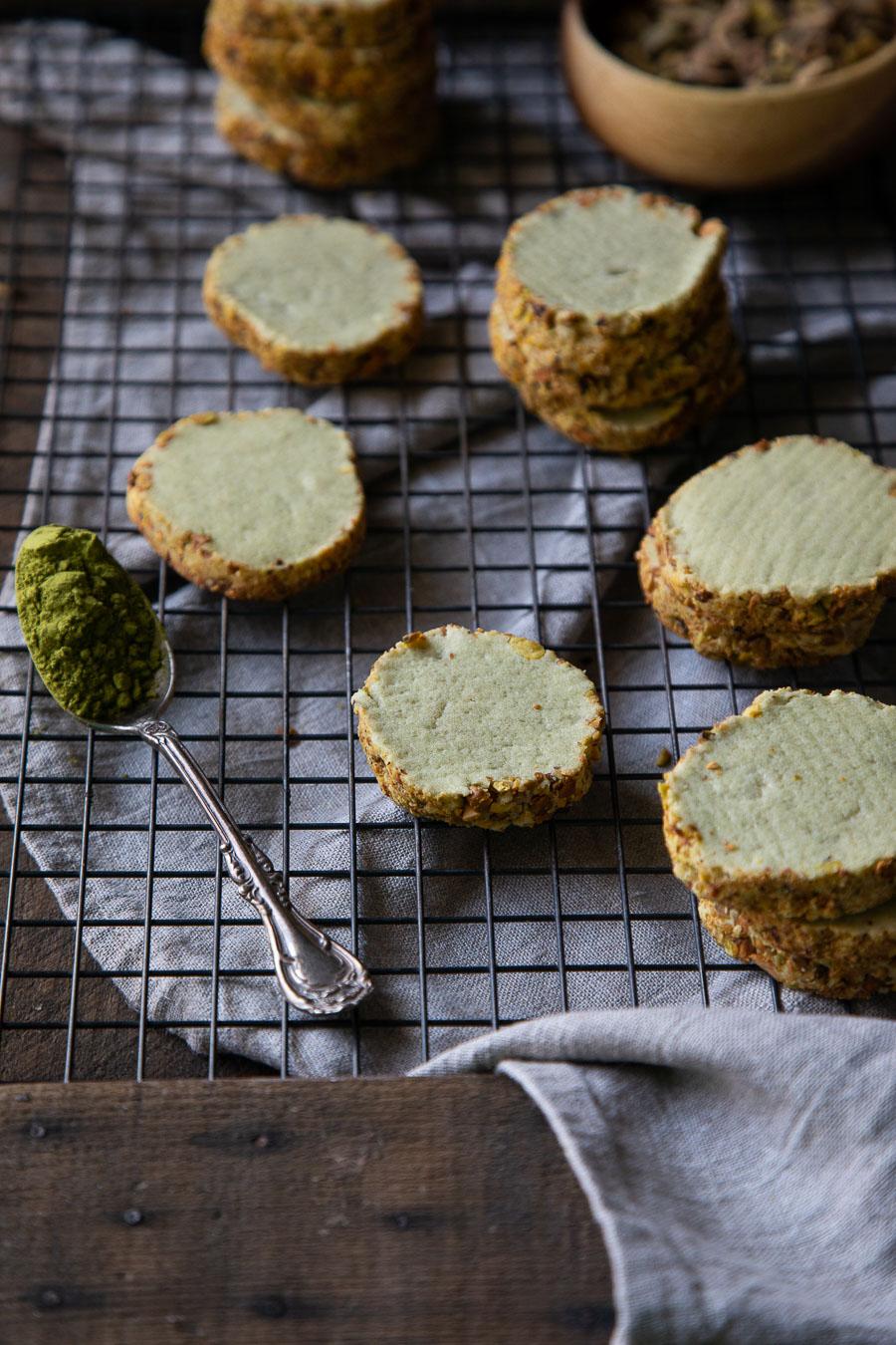 Pistachio Shortbread Cookies