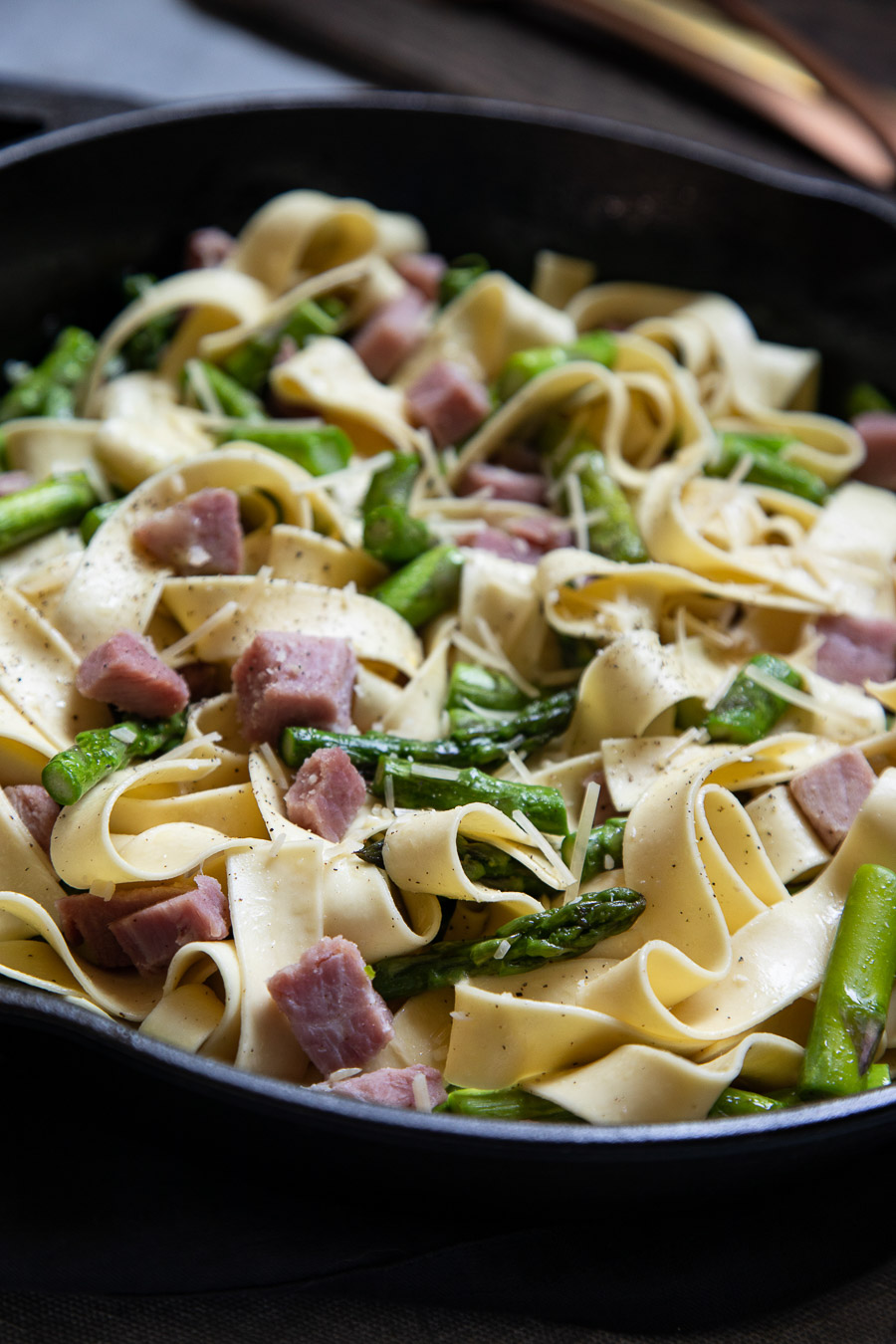 Asparagus and Ham Pasta - Diced Ham Recipe