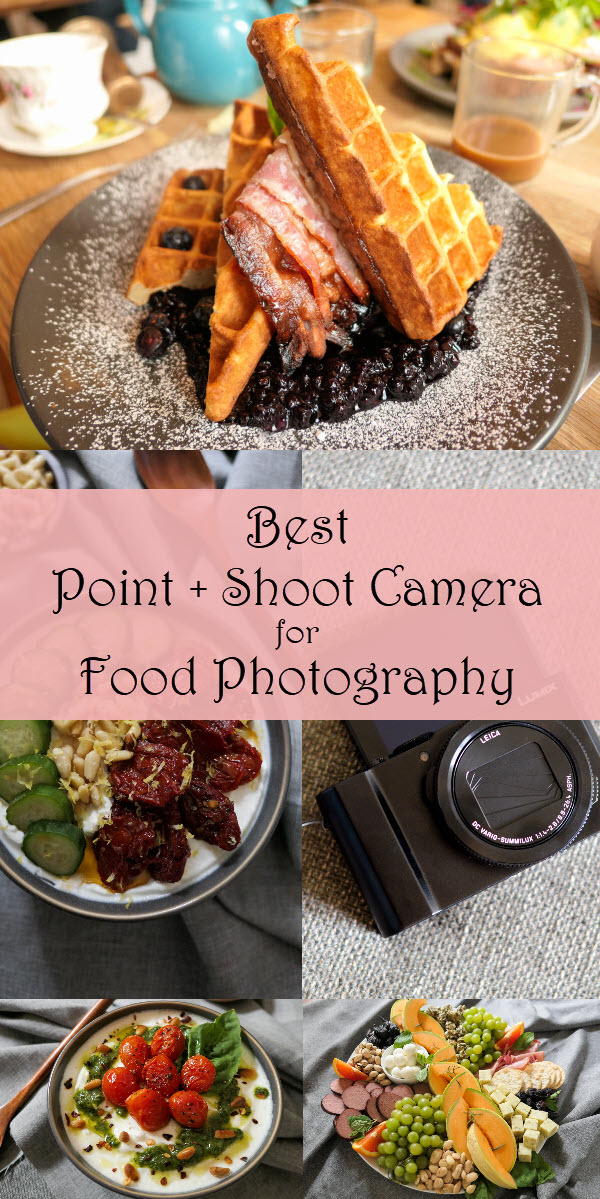 Best Point + Shoot Camera for Food Photography. Foodie photographers and food bloggers looking for an easy to use camera for food photography should chekc out this review. See why this point and shoot camera makes food photography at home and in restaurants easy! #foodphotography #photography #photos #cameras #panansonic