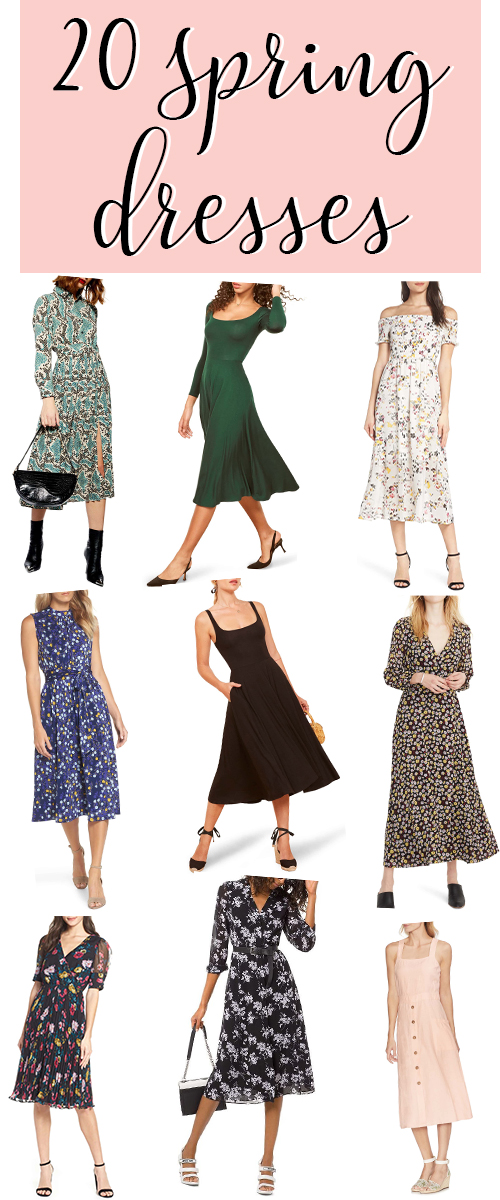 Ladies Spring Dresses. These cute dress outfits are a fun way to ease into spring. Wear long sleeve dresses in early spring, short sleeve dresses through spring, and sleeveless dresses for those late spring and early summer days. #fashion #spring #easter #dress #dresses