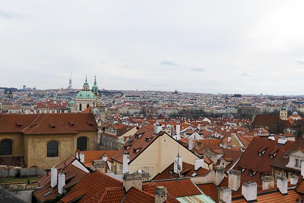 Prague Architecture Photos - Skyline from Prague Castle