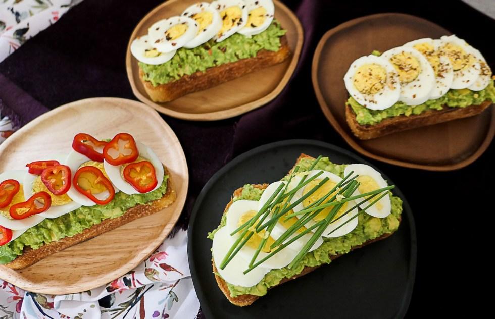 Hard Boiled Egg Breakfast Toast