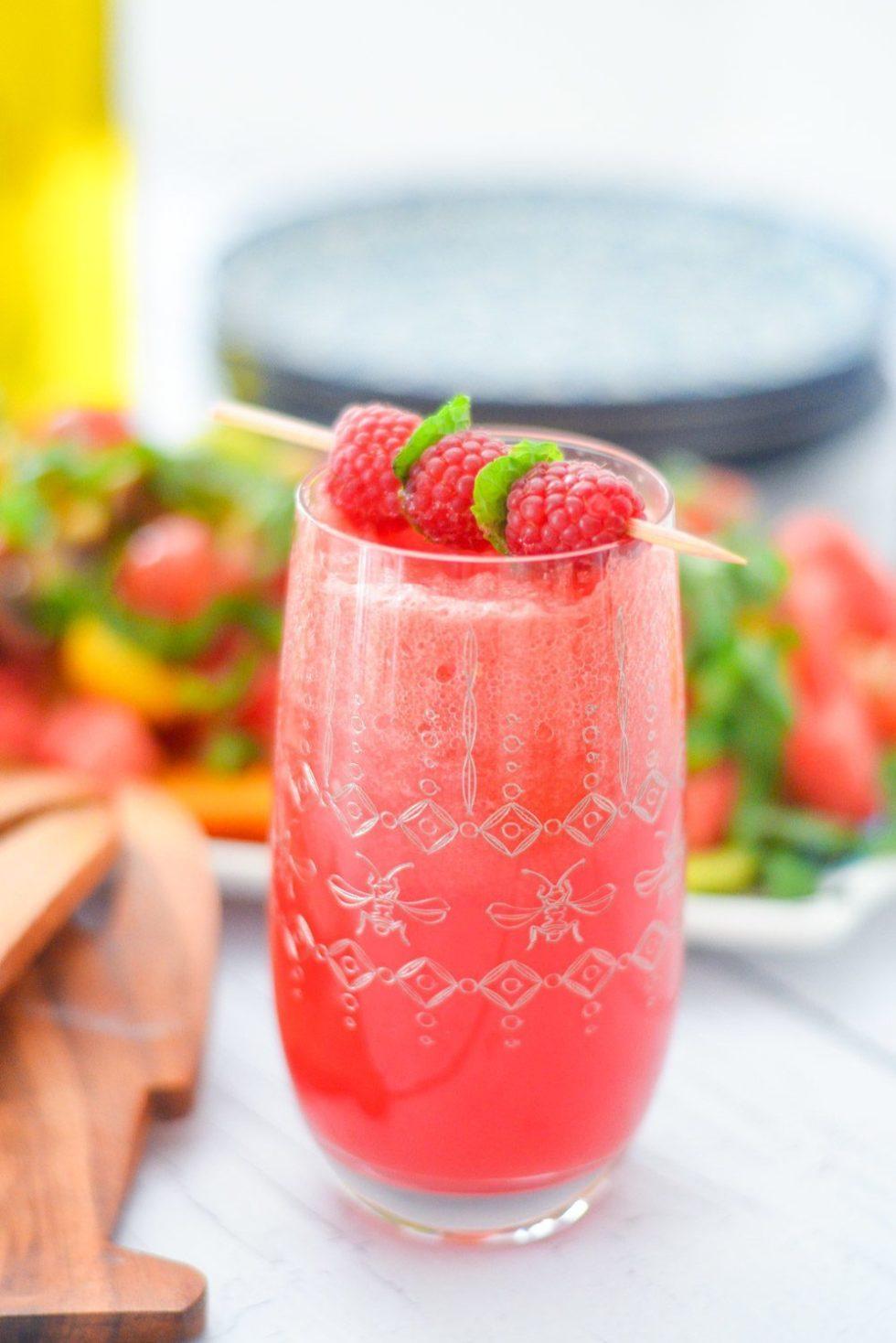 Raspberry Watermelon Fizz Mocktail Recipe