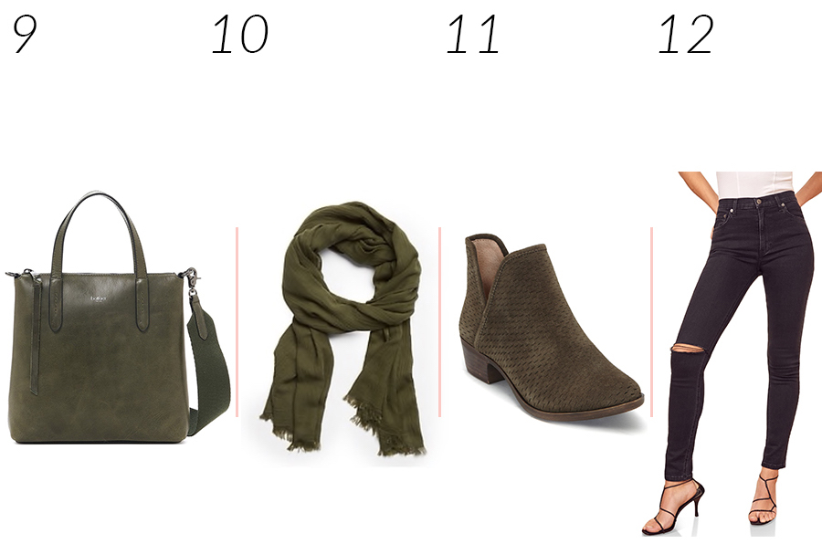 olive green pieces for fall
