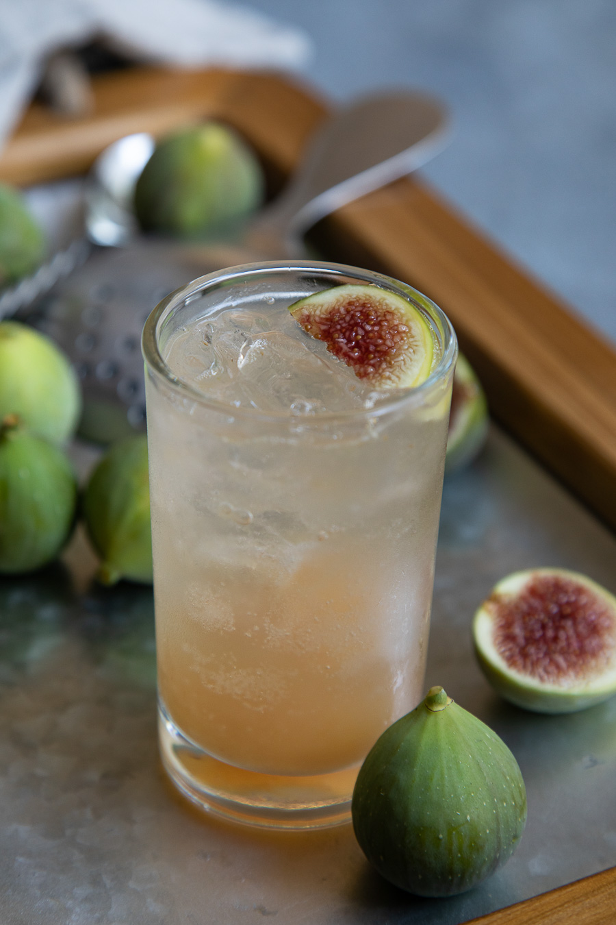 Fig Vodka Spritzer Cocktail