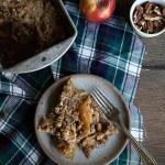 Double Nut Apple Pear Crisp. The perfect fall dessert recipe!