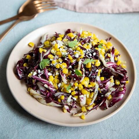 Simple Radicchio Salad w. Fresh Corn