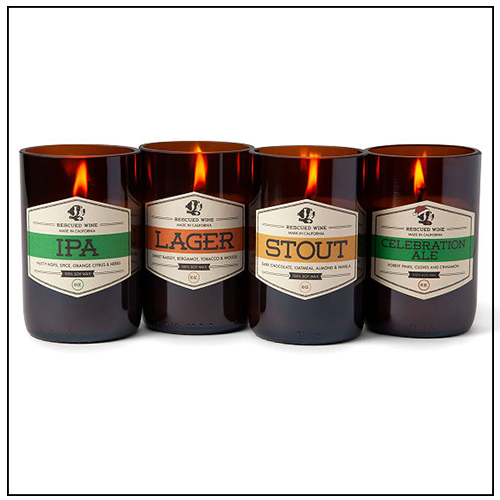 Beer Candles - Eco-Friendly Gift ideas from Uncommon Goods