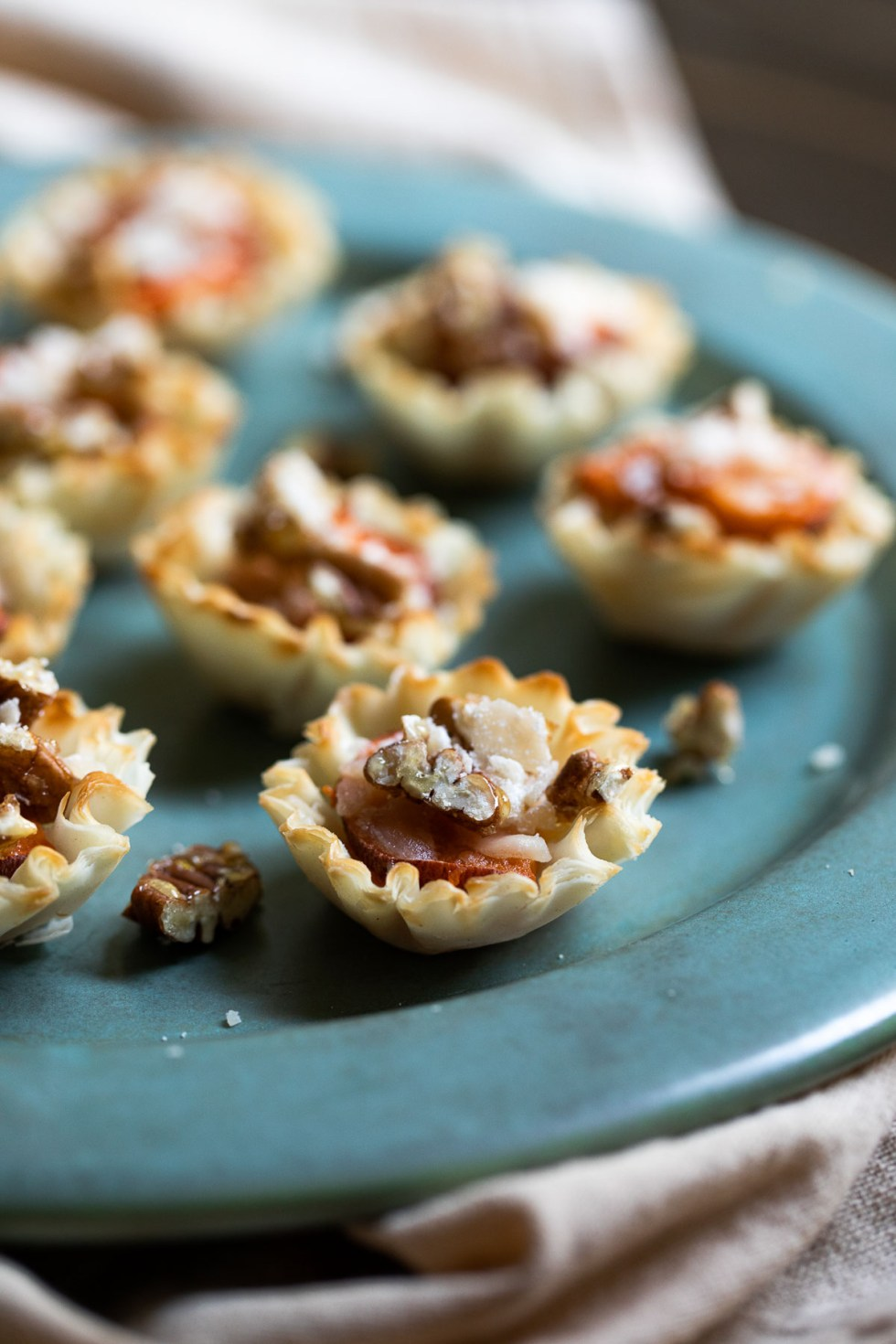 Sweet Potato Appetizer Phyllo Cups