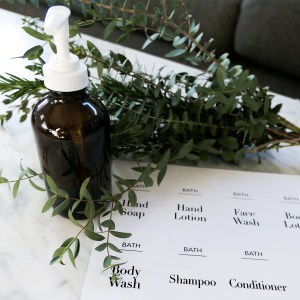 skincare labels