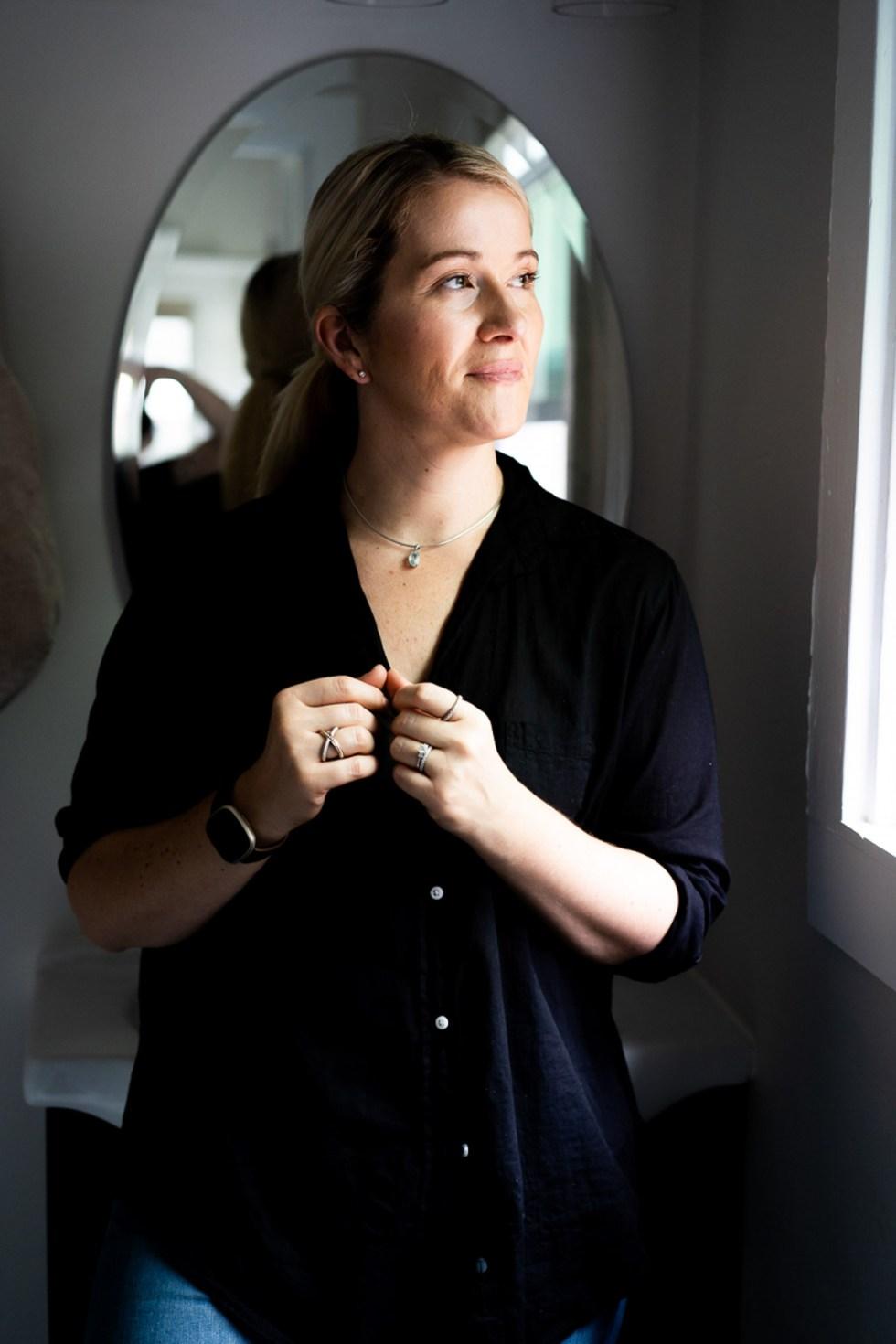 Black Button Down Shirt Woman