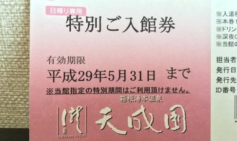 箱根温泉チケット