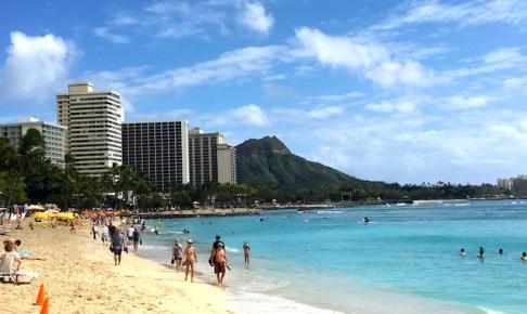 ハワイの海とダイヤモンドヘッド