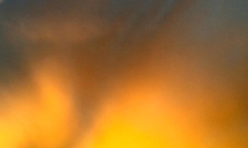 オーロラのような夕焼け