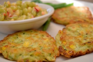 Local Zucchini and Corn Fritters
