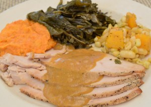 House-Roasted Turkey Breast with persimmon gravy