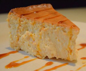 Sweet Potato Cheesecake with sorghum syrup