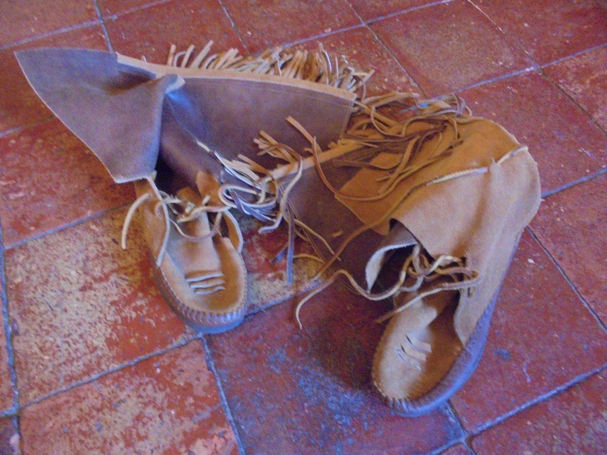 bottes indiennes cuir vintage 70 p40 luckyfind