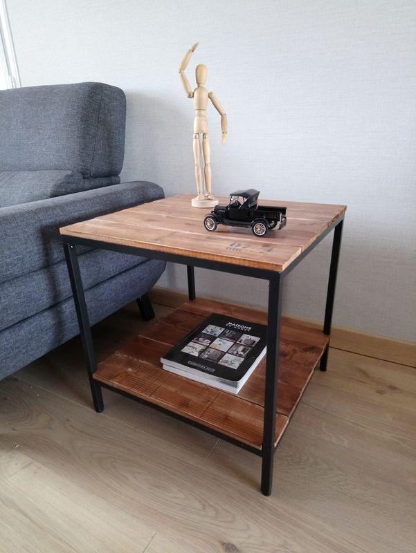 table coin de canape style industriel
