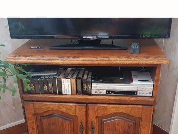 meuble tele avec plateau pivotant