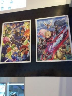 Smash posters at Nintendo World