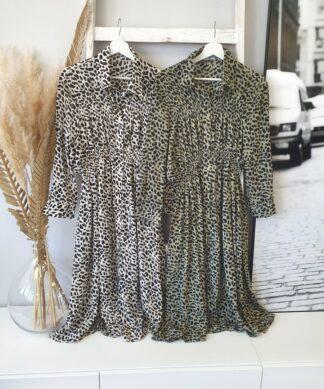 längeres Kleid NOBLESSE LEO – versch. Farben