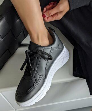 Sneaker BLACK – faux leather – SALE