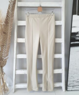 Leggings ATTRACT- SLIT – beige