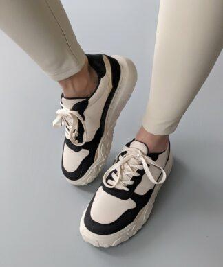 Sneaker FLATFORM – beige-black