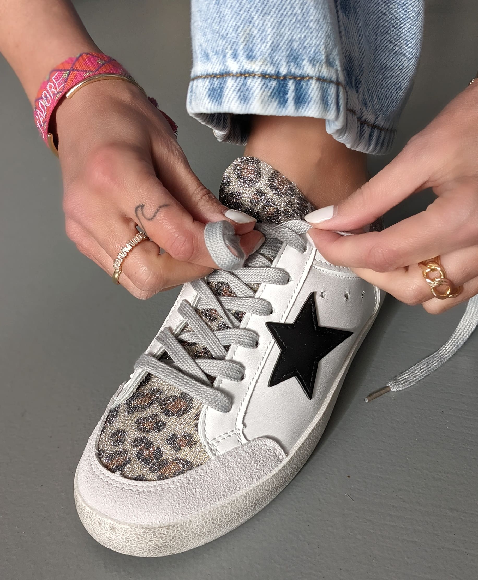 Sneaker BLACK STAR – grey leo