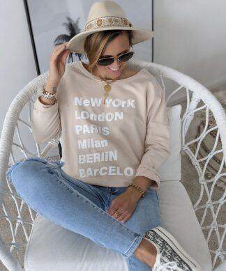 SWEATER Global Girl – creme-beige