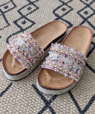 Pantolette GOLDEN WALK-rosa