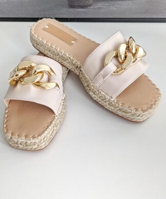 Pantolette FLORENZ- beige SALE
