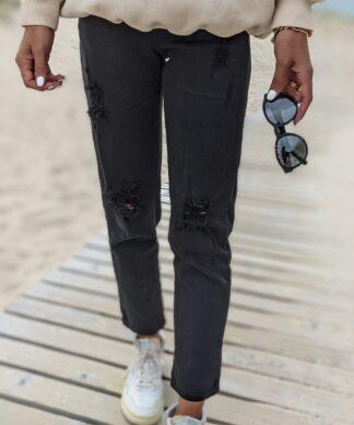 Schwarze Mom Jeans HELLO MISS