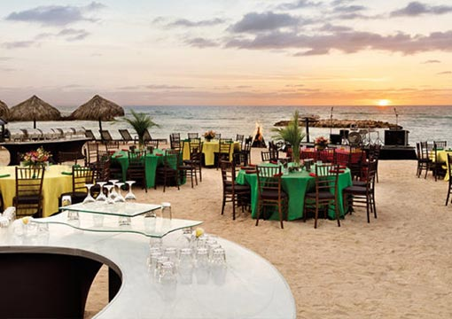 destination wedding day in montego bay jamaica at the Hyatt Ziva