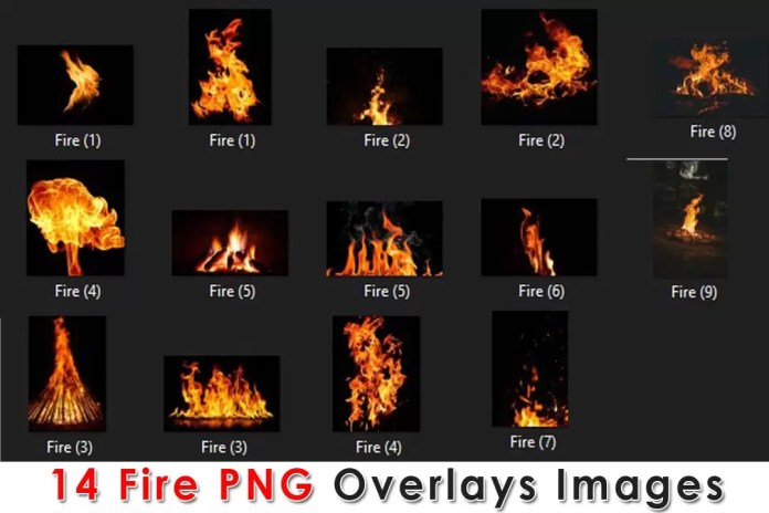 14 Fire PNG Overlays Images